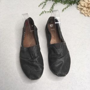 TOMS Shimmery Charcoal Classic Canvas Shoes 8.5